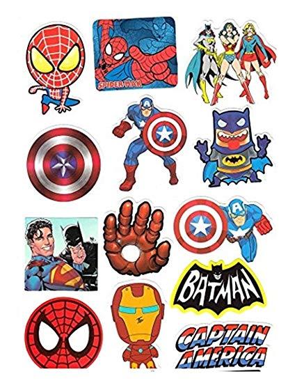 Clipart batman spiderman and captsin america black and white clipart transparent Amazon.com: Super hero Stickers Cartoon Anime Avengers 50Pcs ... clipart transparent