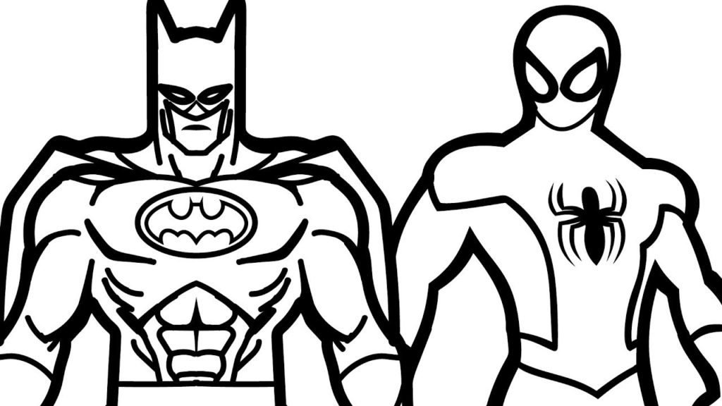 Clipart batman spiderman and captsin america black and white svg royalty free coloring ~ Free Batman Coloring Pages Dayleswood Com To Print Sheets ... svg royalty free