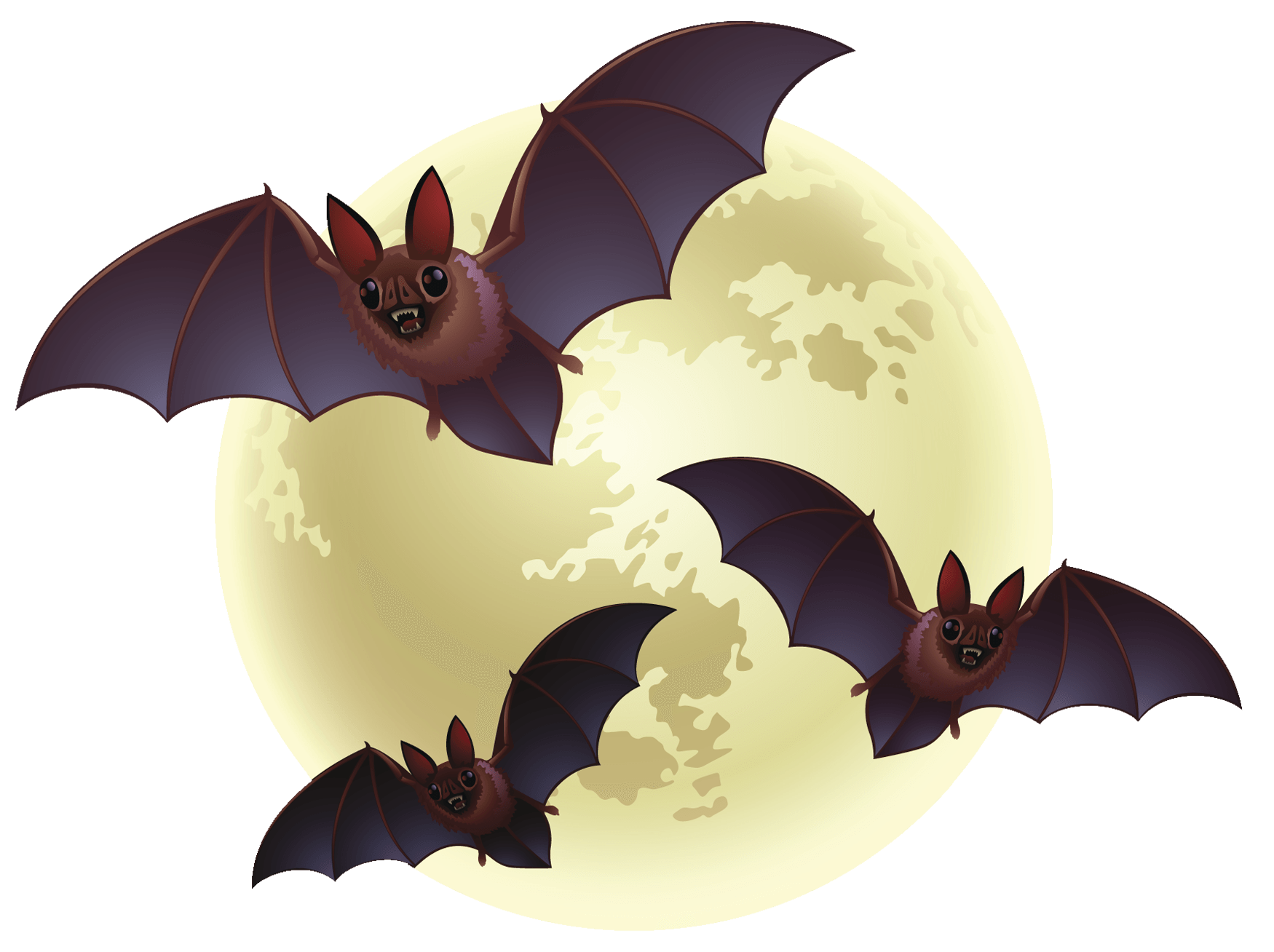 Clipart bats halloween graphic library stock Creepy Bats Halloween transparent PNG - StickPNG graphic library stock