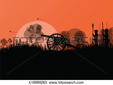 Clipart battlefield black and white Clipart of Old civil war battle field warfare soldier troops and ... black and white