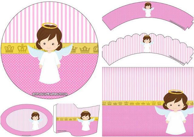 Clipart bautizo gratis svg download Angelita: Mini Kit para Bautizo para Imprimir Gratis.   Oh My Bebé! svg download