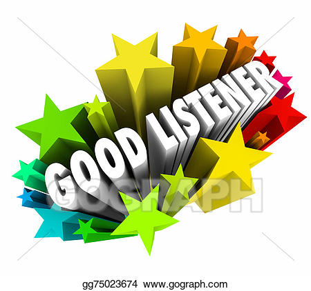 Good listener clipart png Clipart - Good listener 3d words sympathy attentive empathy. Stock ... png