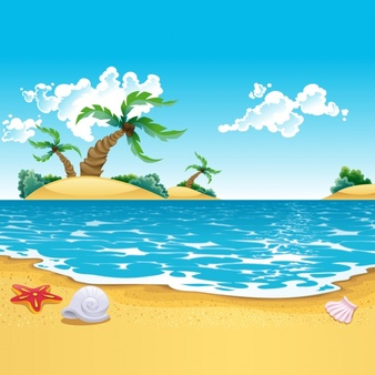 Clipart beach background royalty free Beach Vectors, Photos and PSD files | Free Download royalty free