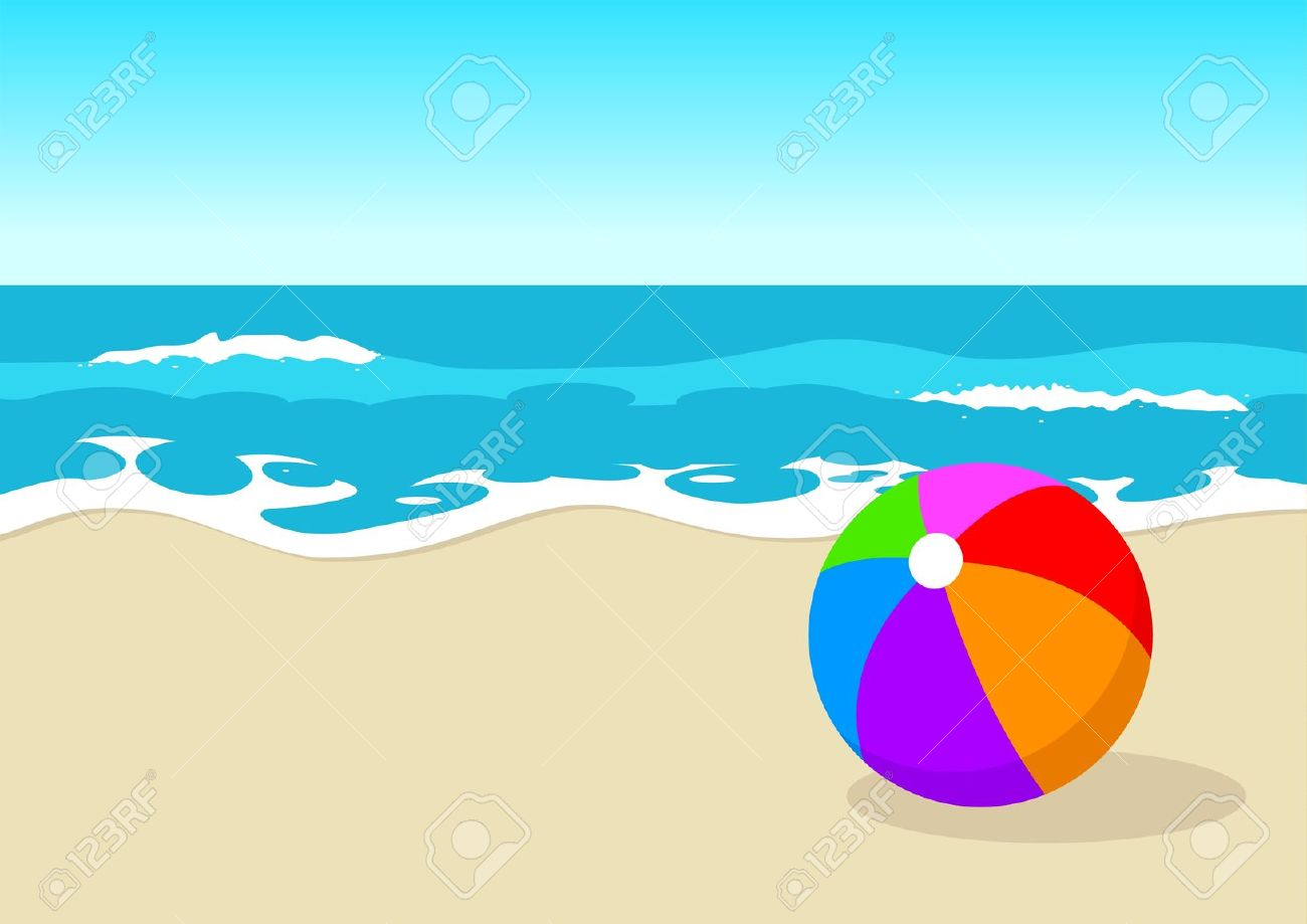 Clipart beacse image black and white stock Clipart beach scenes 4 » Clipart Station image black and white stock