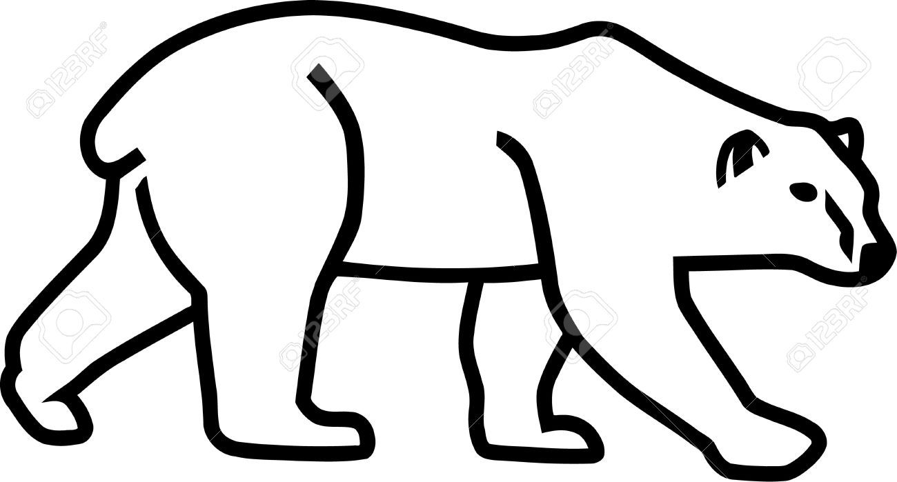 Clipart bear outline graphic download Stock Vector | sewing projects ! | Bear silhouette, Polar bear ... graphic download