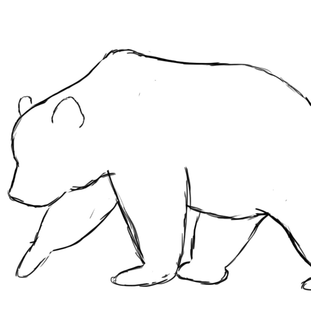 Clipart bear outline png Bear outline clipart 2 » Clipart Station png