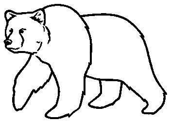 Clipart bear outline jpg library Bear outline clipart 3 » Clipart Station jpg library