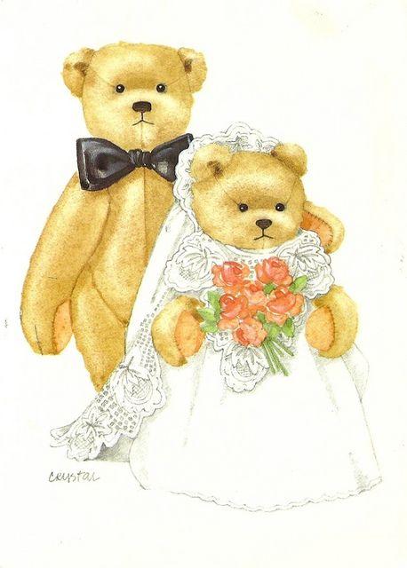 Clipart bear wedding clipart library library Other - Toys, Teddy Bear Wedding | Bear Illustrations & Clipart ... clipart library library