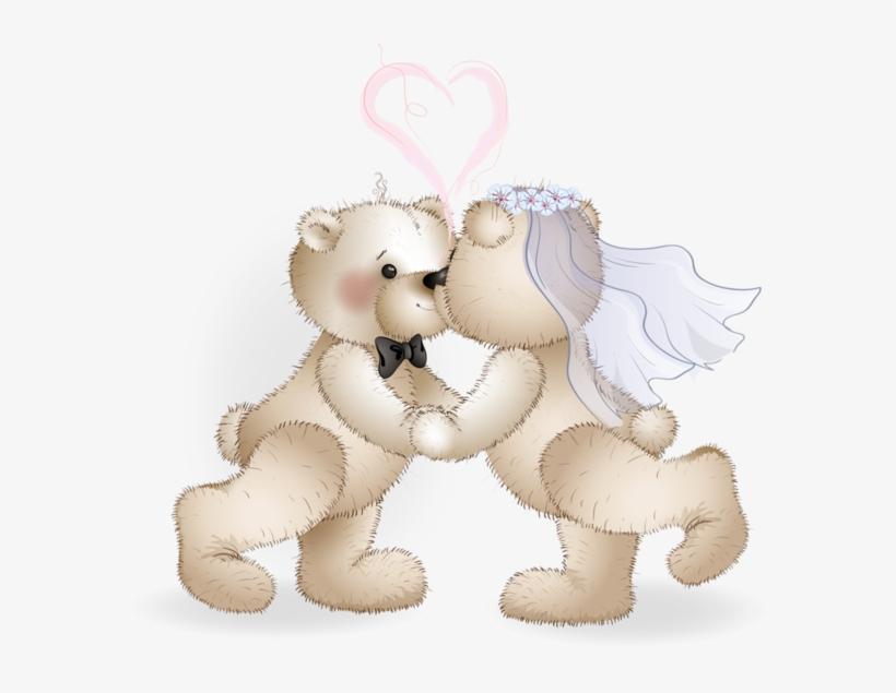 Clipart bear wedding picture transparent download Clipart Bear Wedding - Wedding Bears Transparent PNG - 600x555 ... picture transparent download