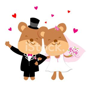Clipart bear wedding image library download Wedding Bear Cute Cartoon Vector premium clipart - ClipartLogo.com image library download