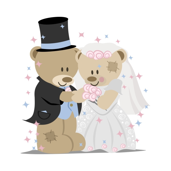 Clipart bear wedding clip free Teddy Bear Wedding on Behance clip free