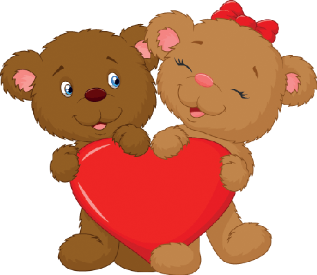 Clipart bears couples black and white Bear Holding Heart Clipart - Free Clipart black and white