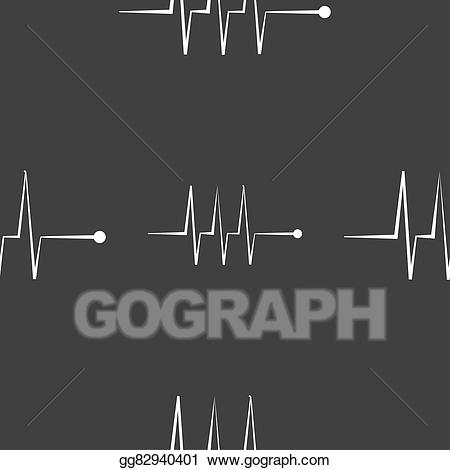 Clipart beats symbol clipart library download Drawing - Cardiogram monitoring sign icon. heart beats symbol ... clipart library download