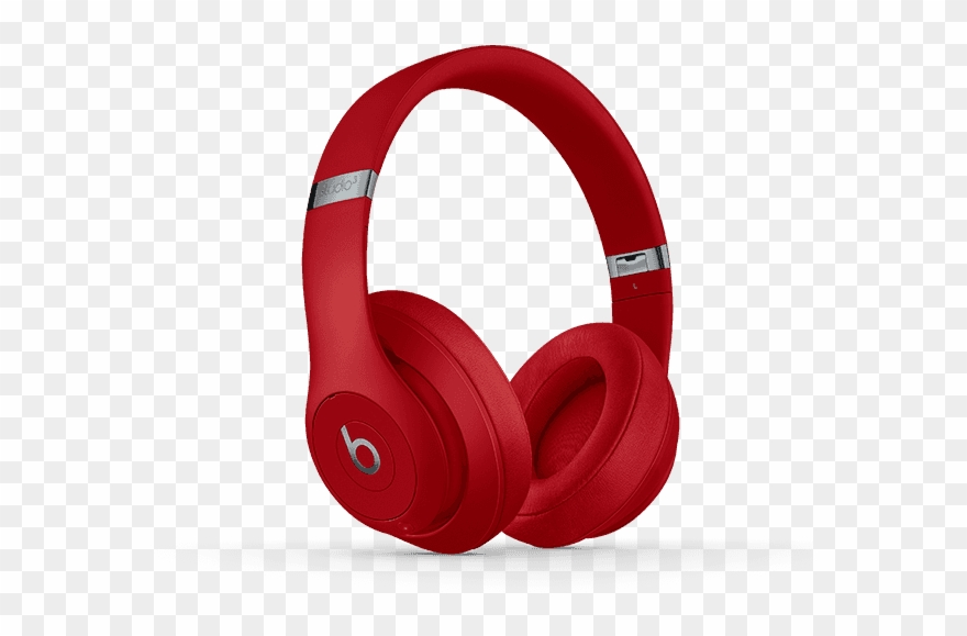 Clipart beats image free library Beats By Dre - Beats Studio 3 Wireless - Red Headphones Clipart ... image free library