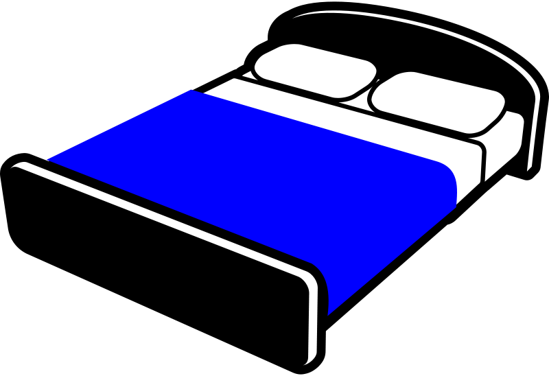 Clipart bed blanket vector library download Free Clipart: Bed with blue blanket | Rfc1394 vector library download