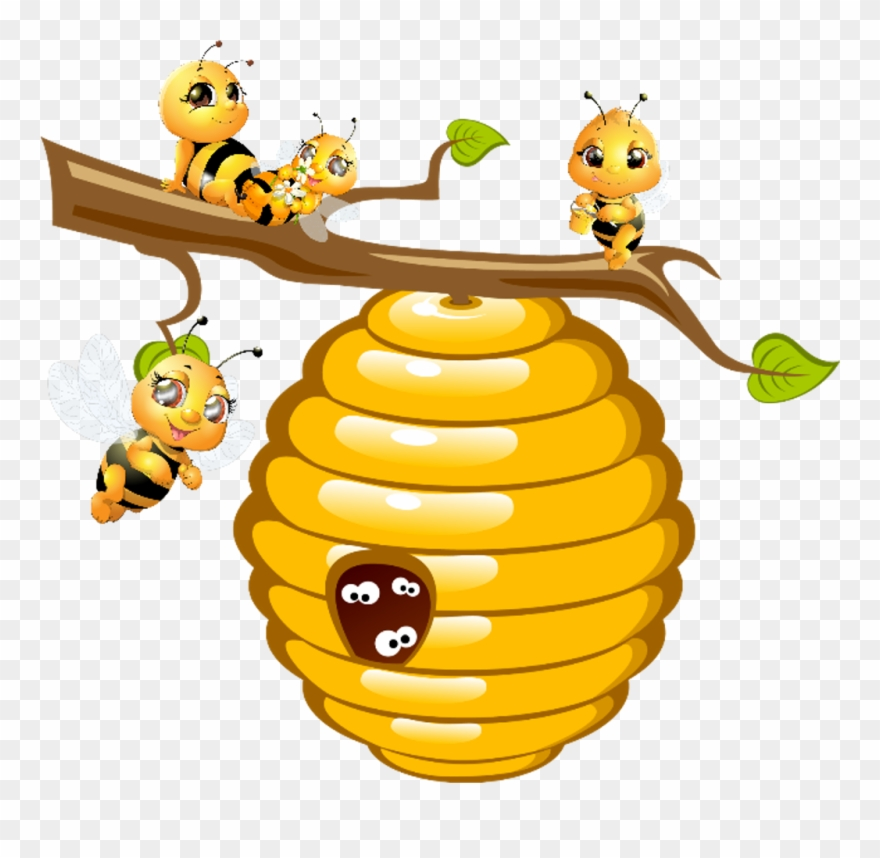 Clipart bee and hive banner royalty free stock bees #hive #honey - Bee Clipart - Png Download (#4062423) - PinClipart banner royalty free stock