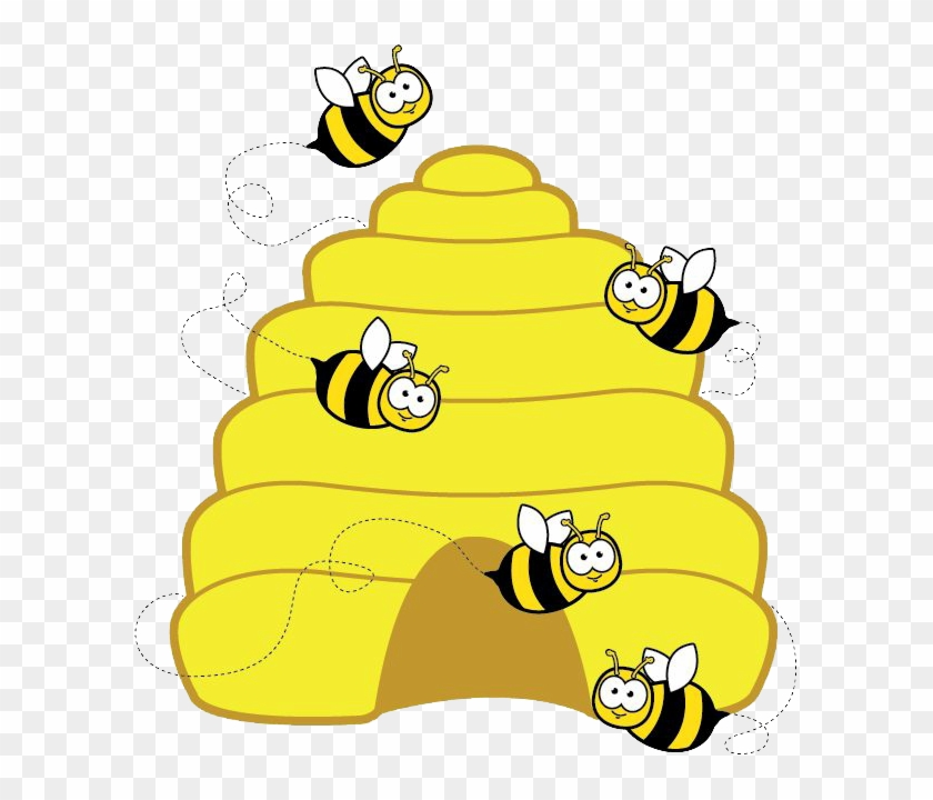 Clipart bee s picture stock Busy Bees Club - Honey Bee Hive Clipart, HD Png Download - 597x640 ... picture stock