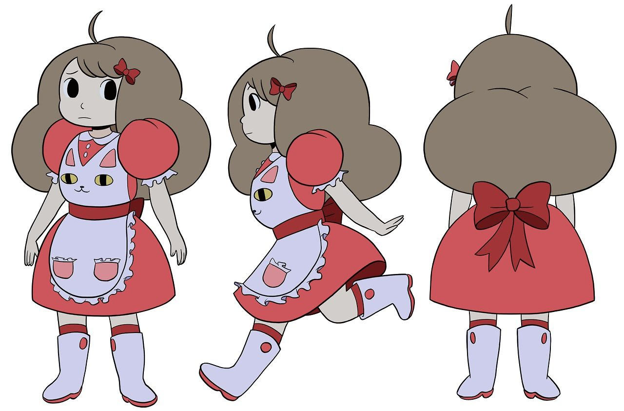 Clipart bee waitress png transparent stock Bee and Puppycat; Bee | Cosplays I\'d like to do. | Character design ... png transparent stock