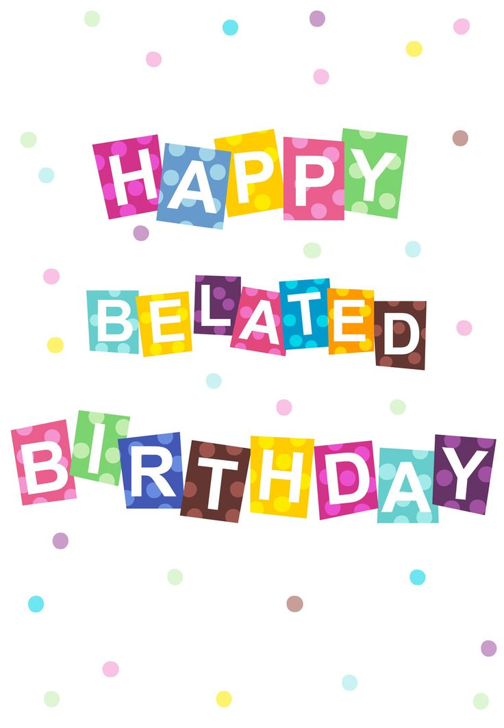 Clipart belated birthday clipart free stock 41+ Belated Birthday Clip Art | ClipartLook clipart free stock
