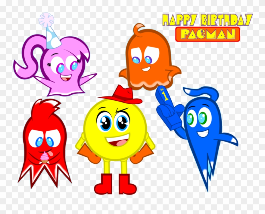 Clipart belated birthday banner transparent download Clip Art Happy Belated Birthday Clip Art - Happy Birthday Pac Man ... banner transparent download