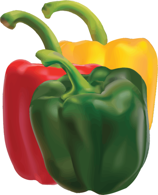 Clipart bell peppers banner transparent stock Bell Pepper,Natural Foods,Peperoncini Vector Clipart - Free to ... banner transparent stock