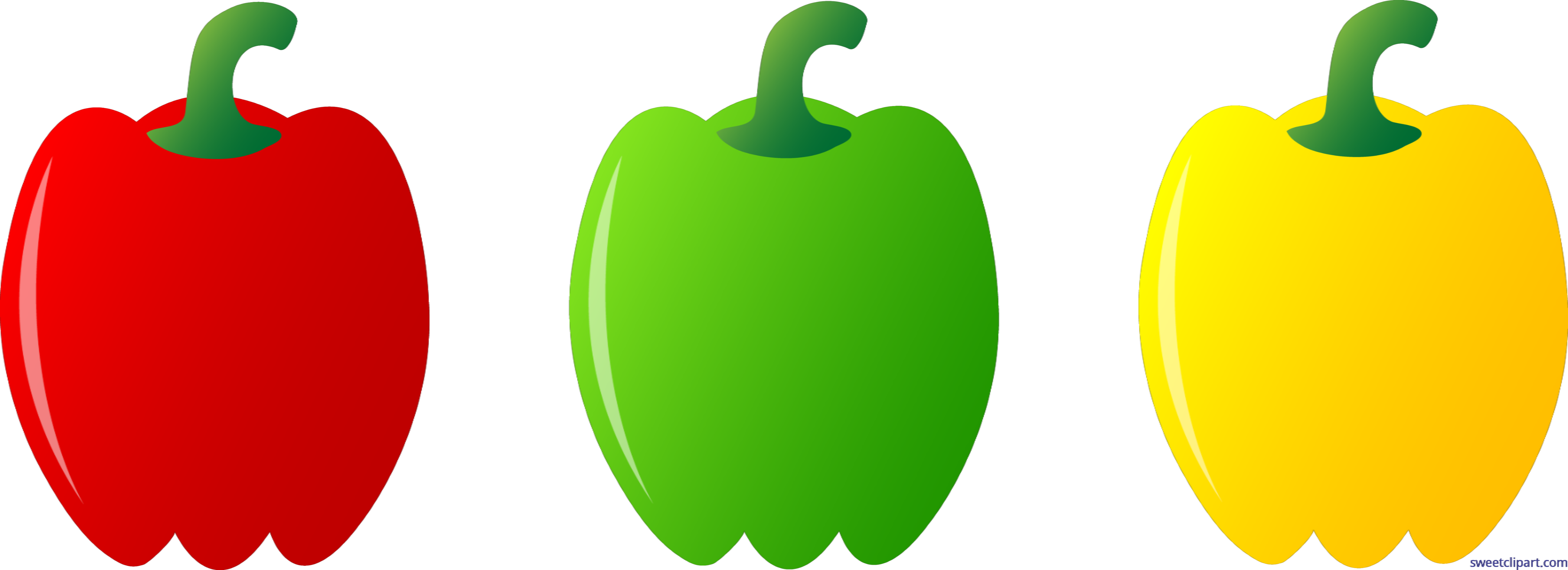 Clipart bell peppers image download Three Bell Peppers Clip Art - Sweet Clip Art image download