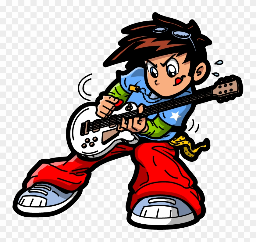 Clipart bergler vector freeuse download Svg Download Clip Art Hand Painted Guitar Boy Pattern - Rockstar ... vector freeuse download