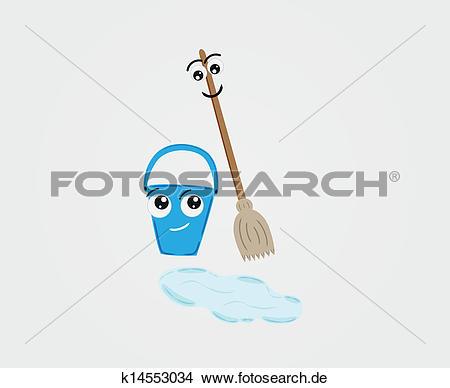 Clipart besen eimer clip art royalty free download Clipart - besen, und, eimer, mit, wasser, boden k14553034 - Suche ... clip art royalty free download