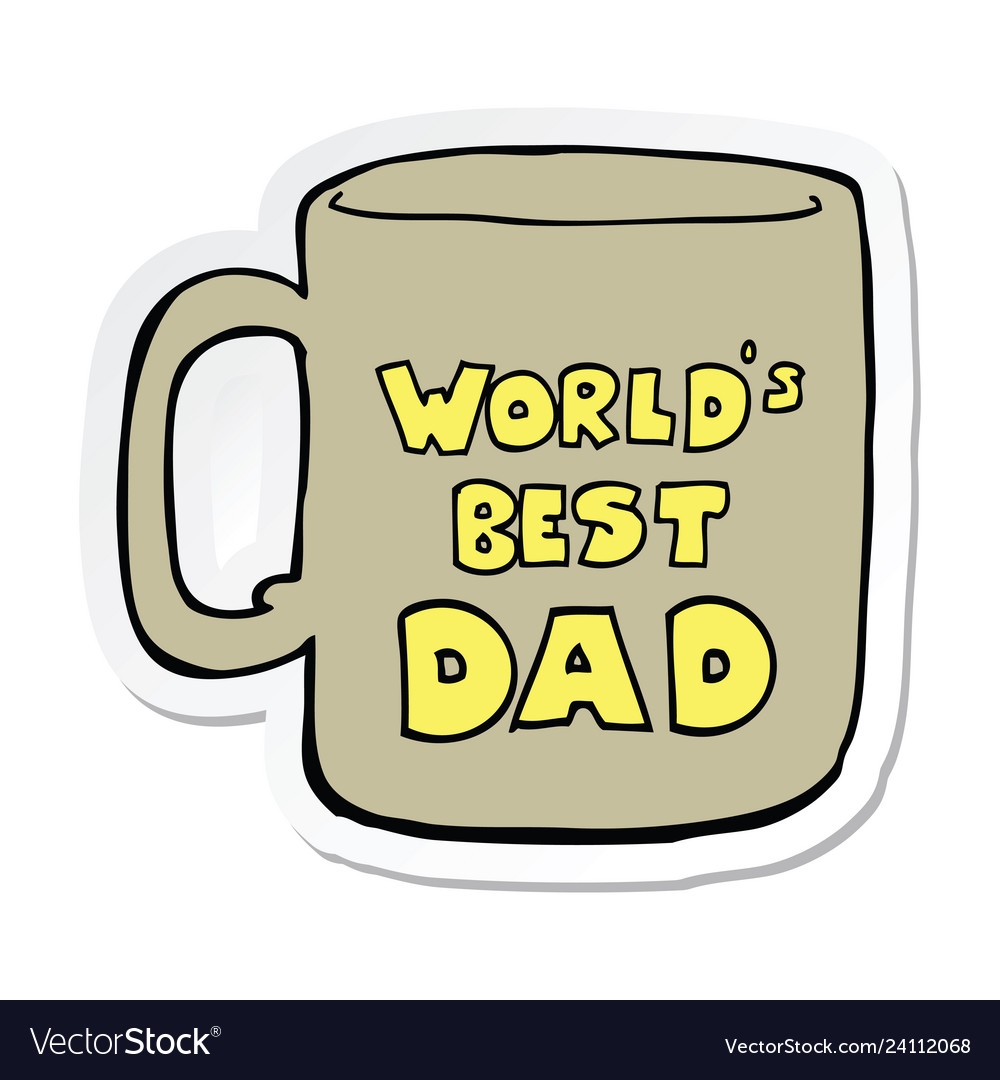 Worlds best dad clipart free graphic transparent library Sticker of a worlds best dad mug graphic transparent library
