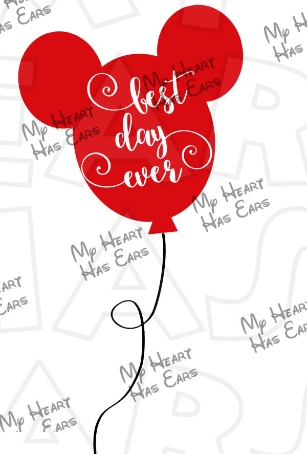 Clipart best day ever jpg royalty free library Best day ever Mickey Mouse ears balloon INSTANT DOWNLOAD digital ... jpg royalty free library
