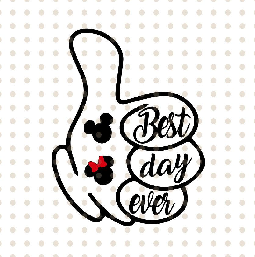 Clipart best day ever svg royalty free library Disney best day ever Minnie mouse dxf svg pdf png eps format for ... svg royalty free library