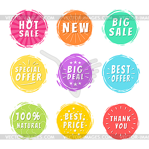 Clipart best deal png free stock Hot Sale New Deal Special Offer Promo Best Price - color vector clipart png free stock
