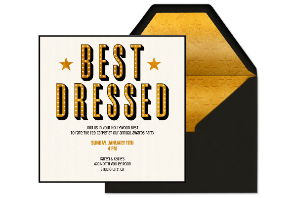 Clipart best dressed clip library download Awards Show Bingo: Gown Edition - Evite clip library download