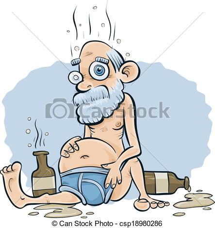 Clipart betrunkener mann svg freeuse Vektor von betrunken, altes, Mann - ein, altes, betrunken ... svg freeuse