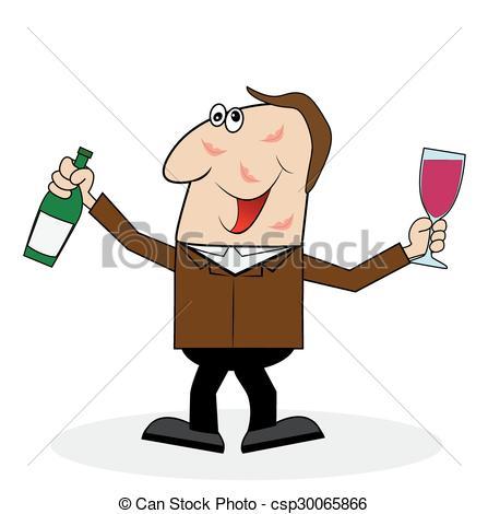 Clipart betrunkener mann vector royalty free Clip Art Vektor von glas, Mann, Flasche, betrunken - betrunken ... vector royalty free