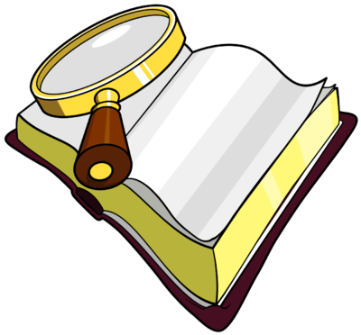 Clipart bible. Image magnifying glass over