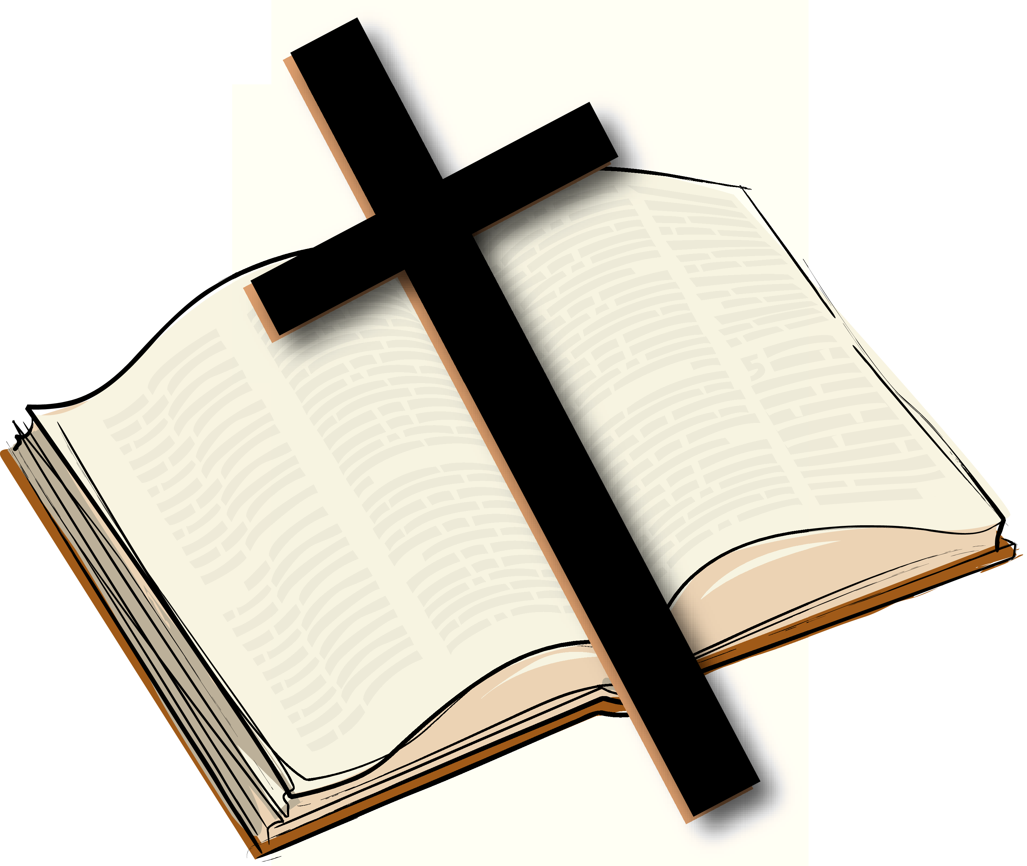 Clipart bible and cross black and white Bible Christian cross Clip art - holy bible 3300*2783 transprent Png ... black and white