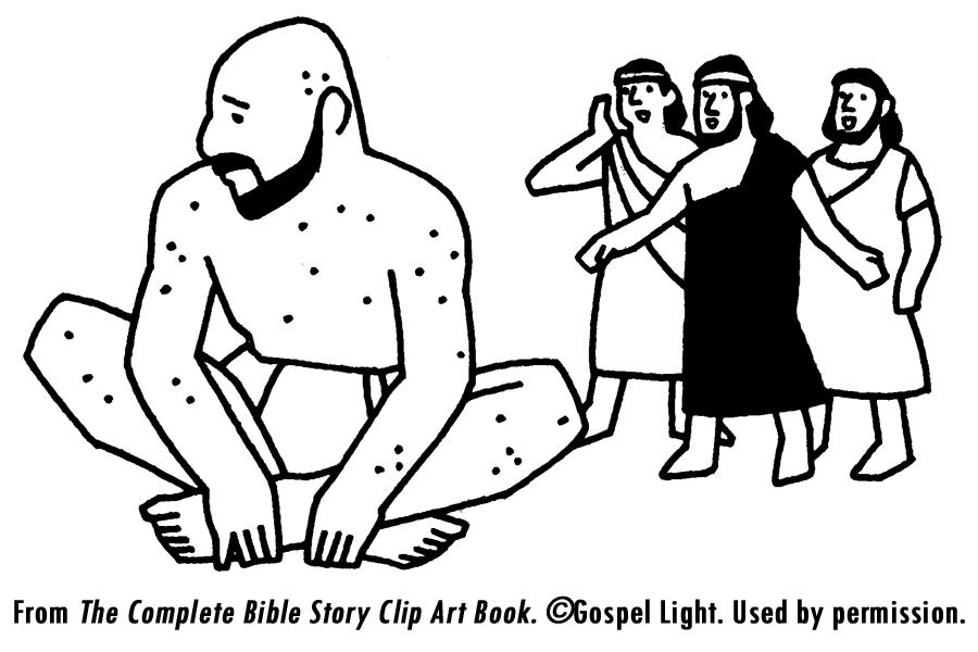 Clipart bible character job black and white.  best images about