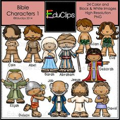 Clipart bible character job black and white