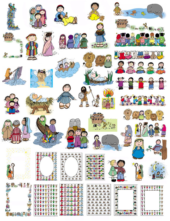 Clipart bible for kids. Clip art in land