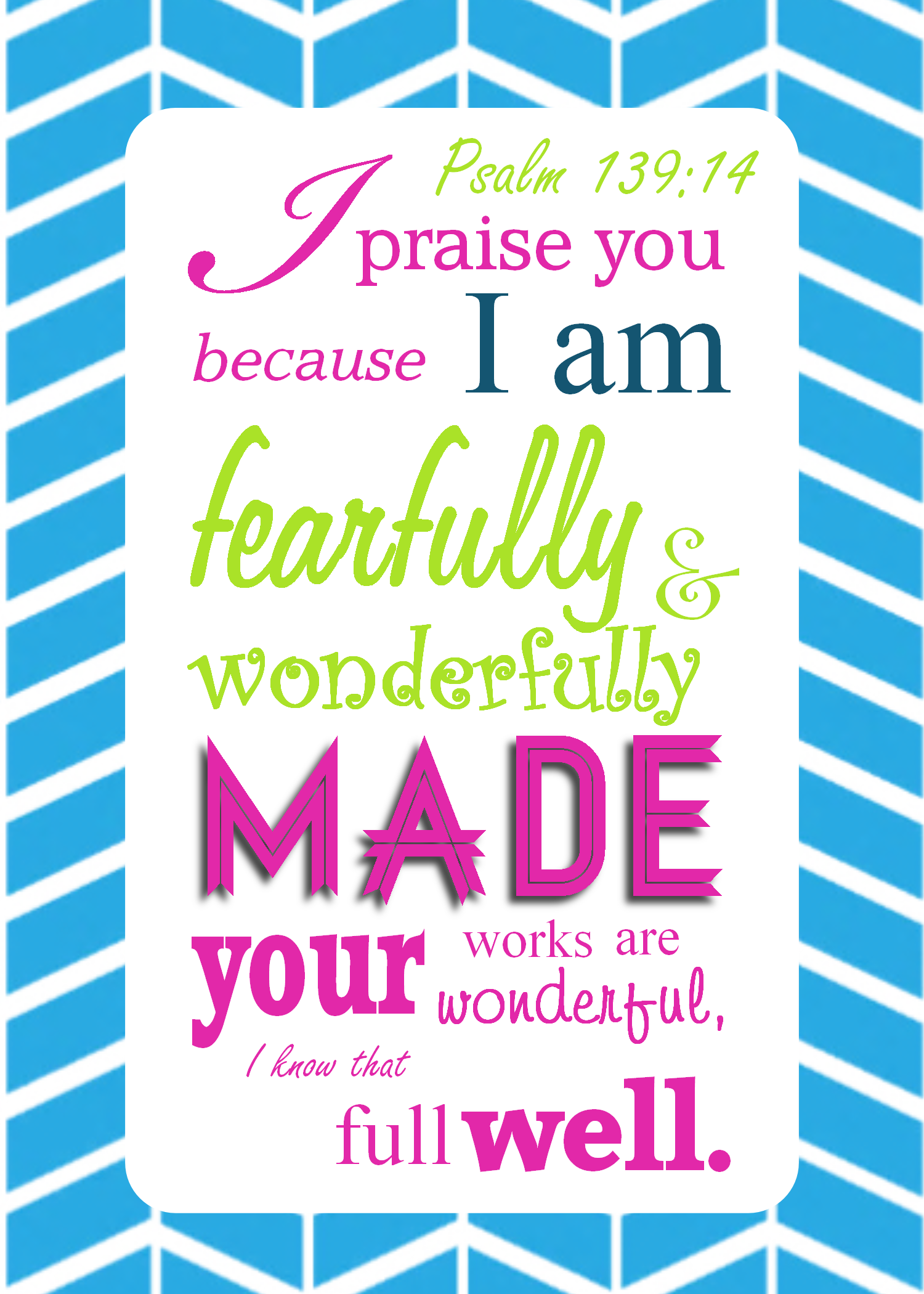 Clipart bible verse for me and my house we will serve the lord clipart free Psalm 139:14 Modern Scripture Printable - ... I am fearfully and ... clipart free