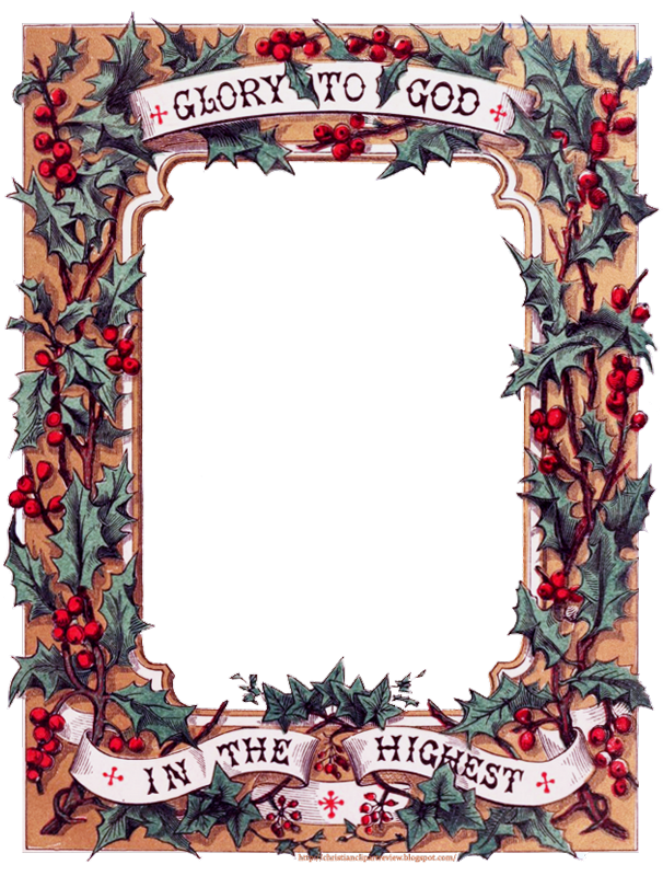 Clipart biblical christmas frames biblical image transparent download Glory To God In The Highest\