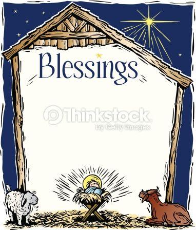 Clipart biblical christmas frames biblical clip art freeuse stock Border, Heading, Blessings, A manger frame | Christmas Flyers ... clip art freeuse stock