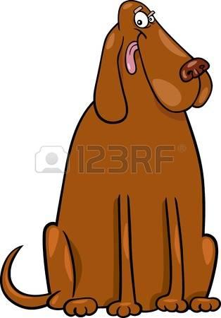 Clipart big dog.  cliparts stock vector