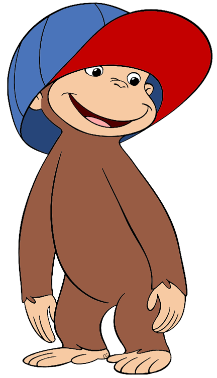 Dog wearing a hat clipart. Curious george clip art