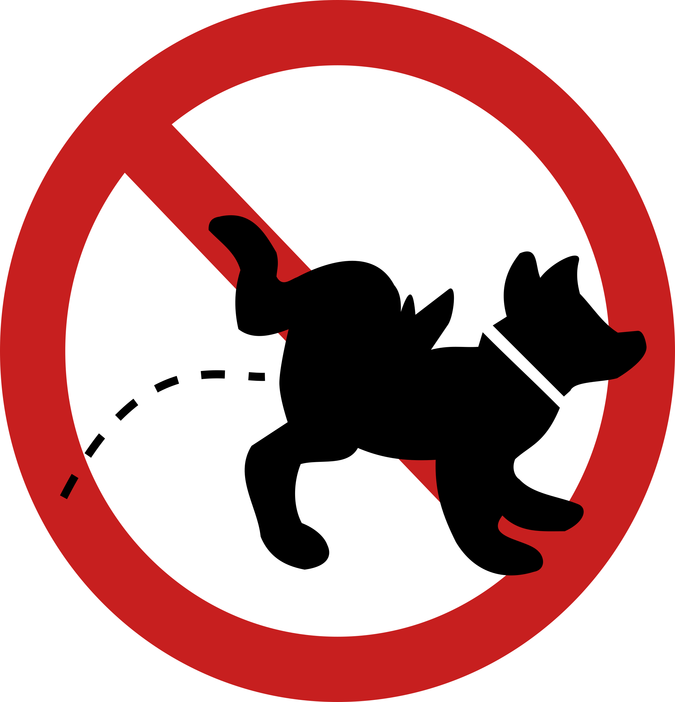 Dog poop clipart free. No peeing sign big