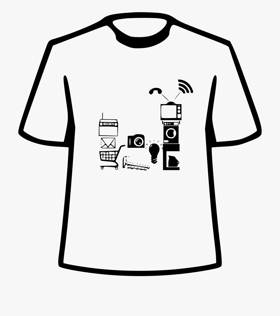 Clipart big shirt clip art royalty free stock Fossasia Iot Big Image Png - Black And White Clipart T Shirt Design ... clip art royalty free stock
