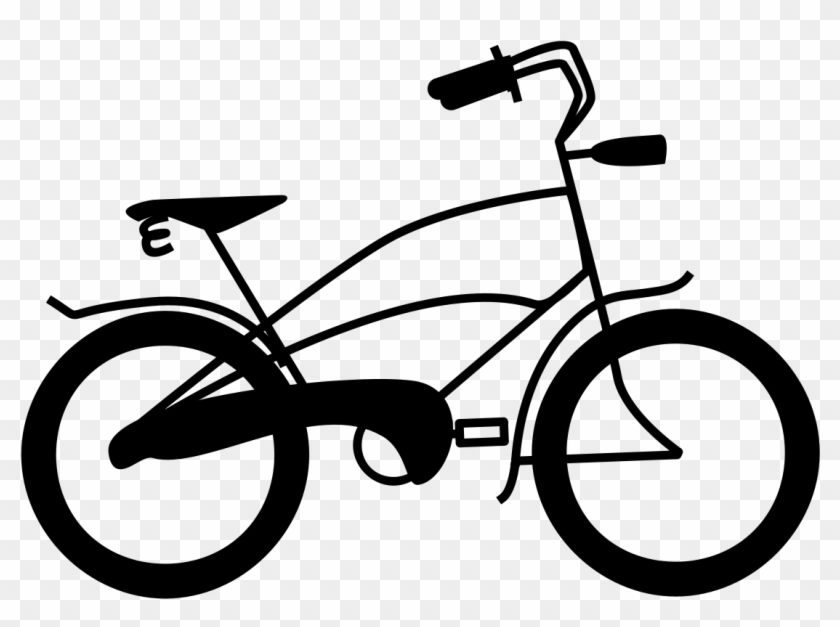 Clipart bike hd clipart black and white library Bicycle Clipart Blue Bicycle - Hybrid Bicycle, HD Png Download ... clipart black and white library