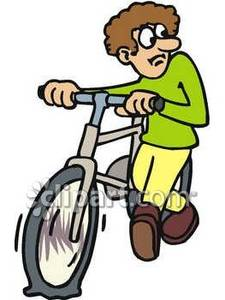 Clipart bike walking graphic library library Man Walking His Bike - Royalty Free Clipart Picture graphic library library