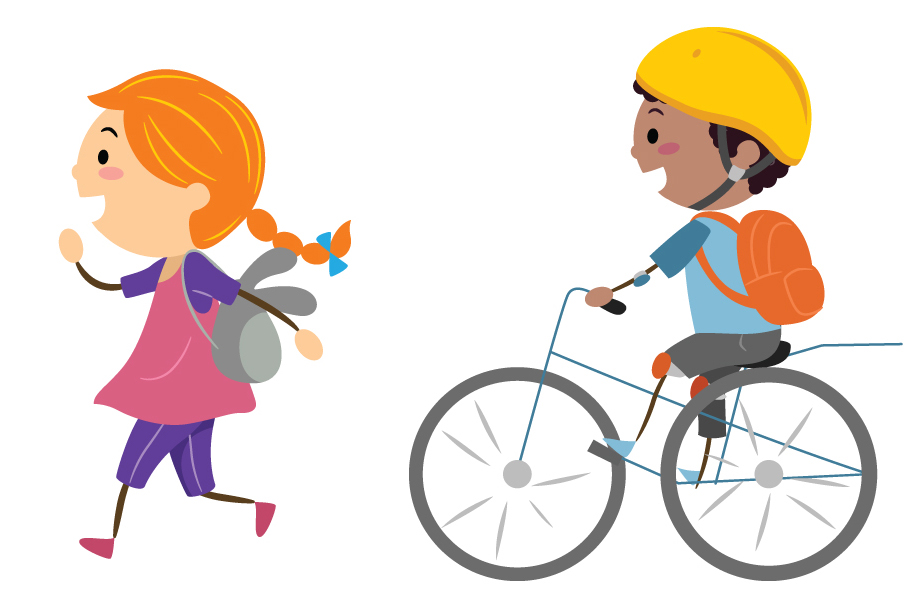 Clipart bike walking banner library Wheels & Heels: Rules of the Road + Commuting by Bike | Walk N Rollers banner library